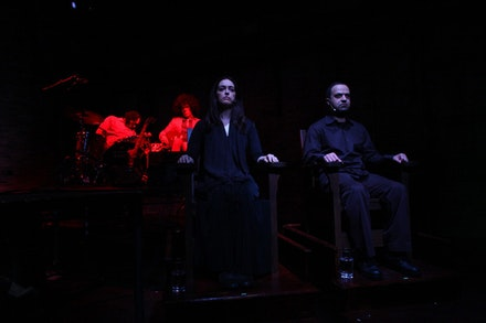 Shirin Neshat, <i>OverRuled</i>, 2011. A Performa Commission. Featuring Lanna Joffrey and Kambiz Hosseini. Photo: Paula Court. Courtesy of Performa.