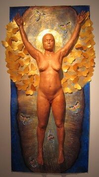 "Yuliya Lanina, ""Liberation� (2005), plaster body cast and mixed media"