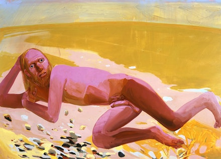 "Dana Schutz, ""Reclining Nude,"" 2002. Oil on canvas. 48 x 66"". Courtesy of Friedrich Petzel Gallery, New York."