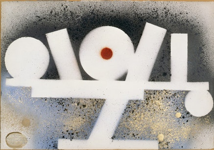 "David Smith, ""Untitled,"" 1963. Spray enamel on paper. 14 x 19"". Jon and Mary Shirley. © The Estate of David Smith/Licensed by VAGA, New York. Photo courtesy of the Estate of David Smith, NY."