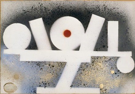 "David Smith, ""Untitled,"" 1963. Spray enamel on paper. 14 x 19"". Jon and Mary Shirley. © The Estate of David Smith/Licensed by VAGA, New York. Photo courtesy of the Estate of David Smith, NY."
