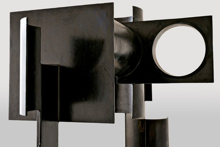 """David Smith, """"Zig III,"""" 1961. Painted steel. 93 x 124 x 61"""". The Estate of David Smith, New York. © The Estate of David Smith/Licensed by VAGA, New York. Photo courtesy of the Estate of David Smith, photo by Jerry L. Thompson."""
