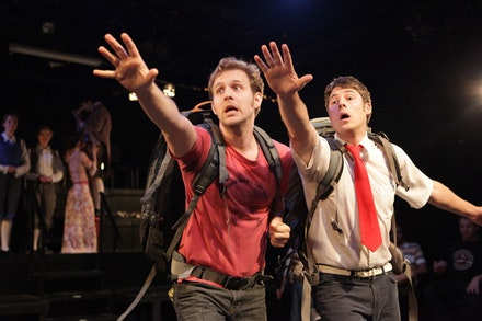 Jon Erdman and Matt Luceno in <i>URANUS (a play about waste)</i>. Photo by Sue Kessler.