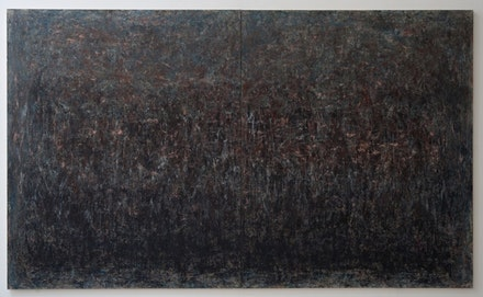 "Rebecca Purdum, ""Ripton 87,"" 2008. Oil on canvas. Diptych, 60 x 100"". Courtesy of Tilton Gallery."