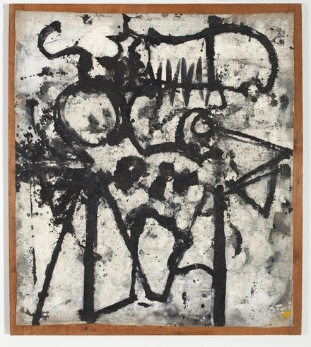 "Richard Pousette-Dart, ""Dragon Head,"" 1948–50. Oil on linen. 43 x 38 1/4"". Courtesy of Luhring Augustine."