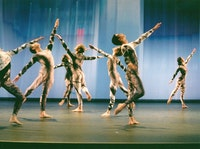 Members of the Merce Cunningham Dance Company in <i>Split Sides</i>, 2003. Photo by Tony Dougherty, courtesy Cunningham Dance Foundation.