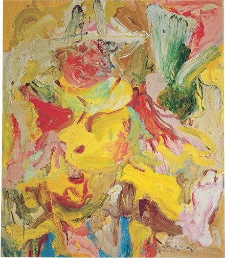 "Willem de Kooning, ""La Guardia in a Paper Hat,"" 1972. Oil on canvas. 55 3/4 x 48"". Private collection. © The Willem de Kooning Foundation / Artists Rights Society (ARS), New York."