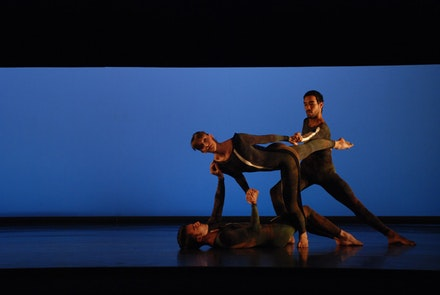 Riener, Jamie Scott and Mitchell performing <i>Nearly Ninety^2</i>. Photo by Anna Finke.