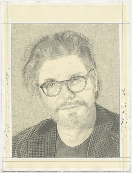 Portrait of Bob. Pencil on paper by Phong Bui.