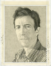 Portrait of Vincent Katz. Pencil on paper by Phong Bui.