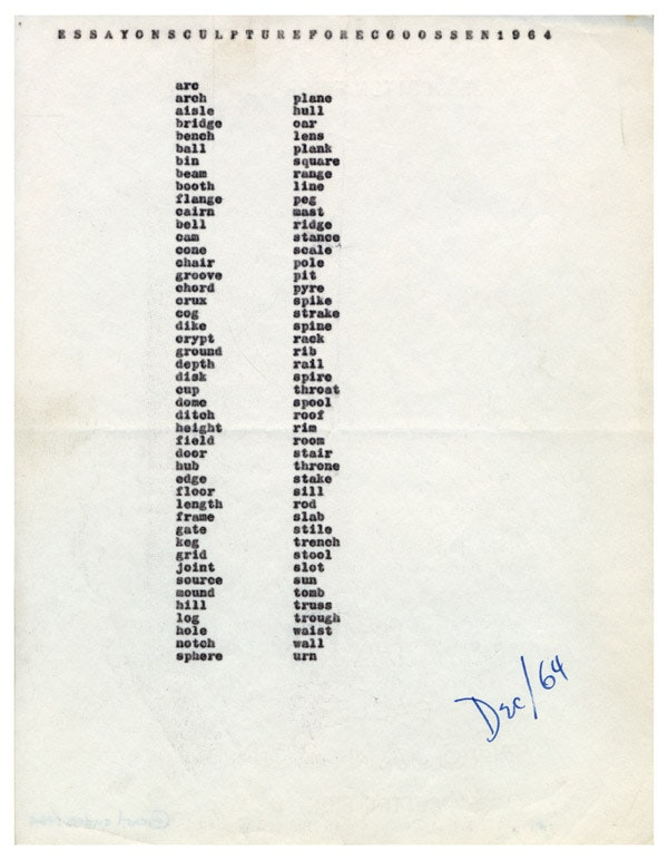 CARL ANDRE with Michèle Gerber Klein and Phong Bui – The