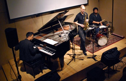 Fieldwork: Vijay Iyer, Steve Lehman, and Tyshawn Sorey. Photo credit: Stefan Reinhardt, courtesy Austrian Cultural Forum New York.