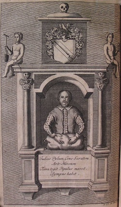 Bard the Father. From Nicholas Rowe's 1709 Shakespeare, courtesy New York Public Library.