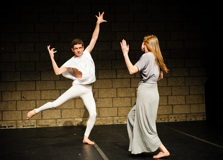 Jack Ferver and Michelle Mola in <i>Me, Michelle</i>. Photo credit: Ian Douglas.