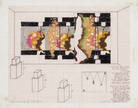 Study A for location X: <em>3rd Degree</em> (1982). Courtesy of Greene Naftali, New York.