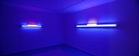 <i>Unlikely Friends: James Brooks & Dan Flavin</i>, installation view, Greenberg Van Doren Gallery, New York. Courtesy of Greenberg Van Doren Gallery, New York.