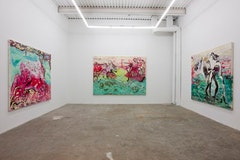 Installation view, <i>Love Before Intimacy</i> by Lola Schnabel. December 16th - February 4th, 2012, The Hole, 312 Bowery NYC. Courtesy The Hole.