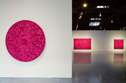 Installation view of <i>Bosco Sodi: Ubi sunt</i> © Bosco Sodi. Photo by: G. R. Christmas / Courtesy The Pace Gallery.