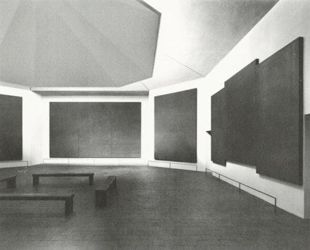 Rothko Chapel (interior), skylight with deflection baffle, 1976. Courtesy the Menil Collection.
