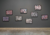 Installation view of Jean Dubuffet: <i>The Last Two Years</i>. 	© 2012 Jean Dubuffet / Artists Rights Society (ARS), New York / ADAGP, Paris.  Photo by: G. R. Christmas / Courtesy The Pace Gallery.