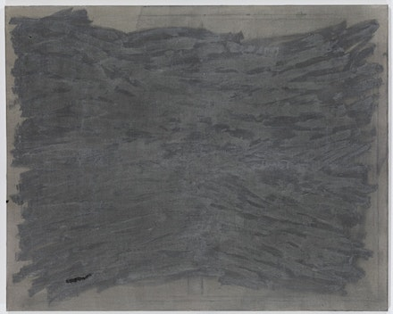 Sergej Jensen, 2011, Oil and acrylic on sewn hemp, 47 1/4 x 59 1/16 inches (120 x 150  cm).