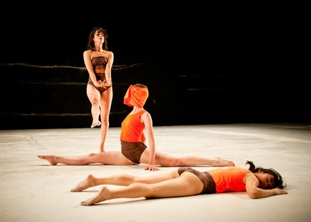 Molly Lieber, Mary Ready, Aretha Aoki in Vanessa Anspaugh's <i>Armed Guard Garden</i>. Photo credit: Ian Douglas.