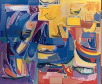"Miriam Laufer, ""Counterpoint"" (1975), oil on canvas. 