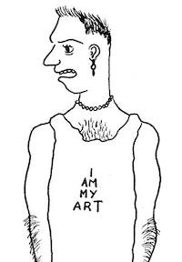 Drawing by Sean Landers