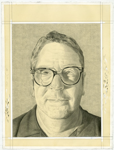 Portrait of Ray Smith. Pencil on paper by Phong Bui.