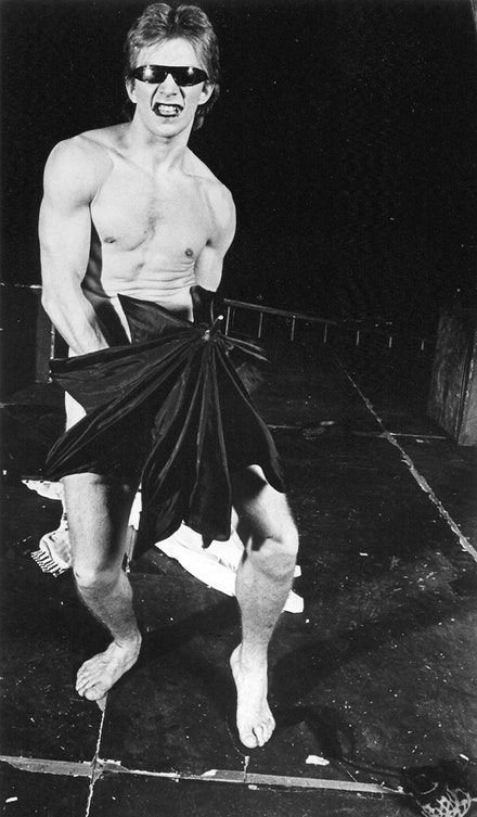 Jack Wetherall as Rod, the carny stripper who later plays Jesus. In 1983... Photo credit: Beatriz Schiller.