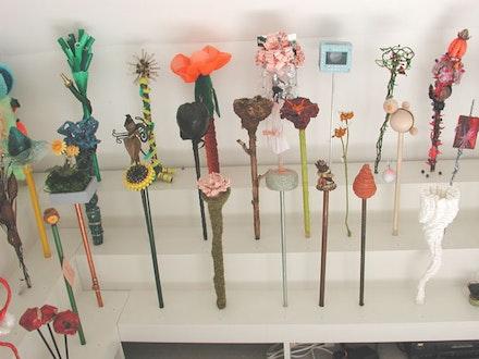<i>Cross-Pollination</i>, installation view, California side. Courtesy Mery Lynn McCorkle.
