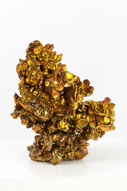 "Julia Kunin, ""Golden Grove,"" 2011. Ceramic. 13 x 11 x 8"". Courtesy of James Dee."