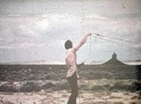 "Paul Kos, ""Roping Boar's Tusk,"" 1971. DVD (Transferred from Super-8 film). Courtesy Nyehaus."