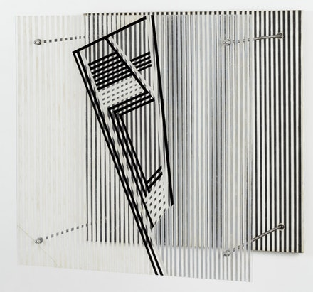 "Jesus Soto, ""Sin título (Untitled),"" 1956. Paint on Plexiglas and wood. 19 3/4 x 19 3/4 x 13 3/8"". Collection Hélène Soto. © 2012 Artists Rights Society (ARS), New York / ADAGP, Paris."