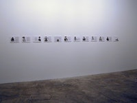 "Omer Fast, ""Godville Portraits,"" 2005, group of ten drawings."