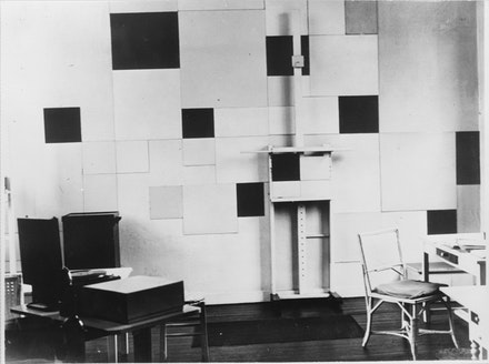 Studio of Piet Mondrian, 26 rue du Départ, Paris, 1930. Collection RKD, The Hague.