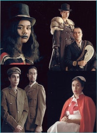 "Lisa Reihana, ""Native Portraits n.19897,"" 1997. Multi-media installation. Variable. Collection of the Museum of New Zealand Te Papa Tongarewa."