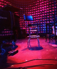 Awaiting the arrival of Mx Justin Vivian Bond at Joe's Pub. Photo: Logan K. Young.