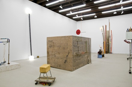 Andy Coolquitt, Installation view, 2012. Courtesy of Lisa Cooley, New York.