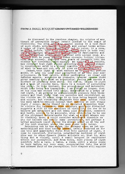 "Natalie Czech, ""A small bouquet by Maia Gianakos,"" 2011. Oil pastel on C-Print, 85 x 60 cm. Courtesy the Artist / Ludlow 38. Copyright: NatalieCzech / VG Bild-Kunst."