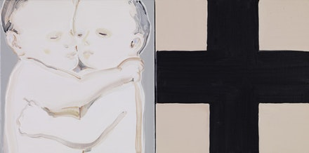 "Jean Hua-Chen Huang, ""1981,"" 2010. Oil on canvas. 12 x 24"". Courtesy Rooster Gallery."