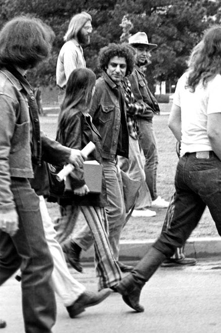 Abbie Hoffman visiting the University of Oklahoma to protest the Vietnam War, circa 1969. Photo by Osbornb, flickr.com.