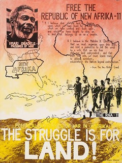 Figure A: <em>Free the Republic of New Afrika: The Struggle is for Land</em>, Madame Binh Graphics Collective, NYC, circa 1979 &#150; 1980.