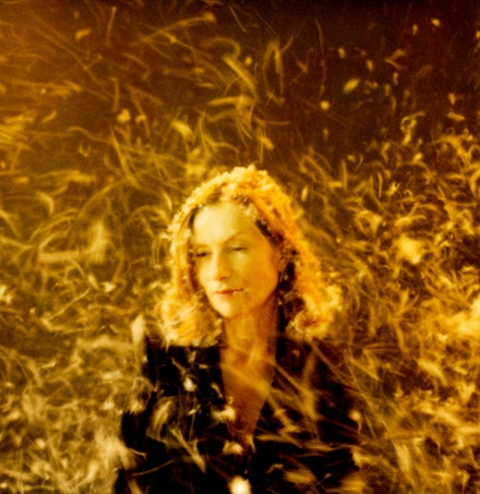 "<em>Mondo Lux</em> (Werner Schroeter, ""Isabelle Huppert, Goldregen,"" Frankfurt am Main, 2009). 2011. Germany. Directed by Elfi Mikesch. Image courtesy Christian Holzfuss Fine Arts, Berlin."