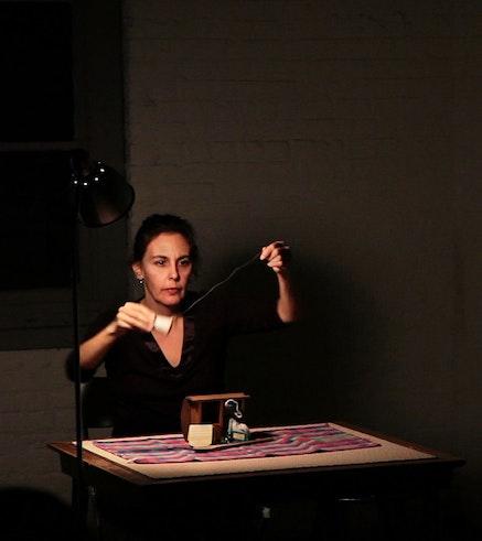 Lizzie Olesker in <i>Infinite Miniature</i>. Photo by William Moree.