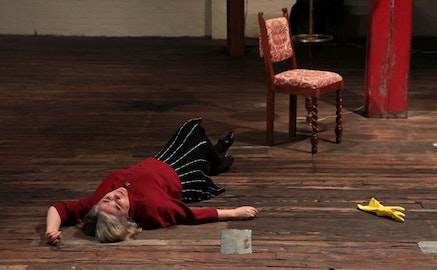 Lenora Champagne in <i>Memory's Storehouse</i>. Photo by William Moree.
