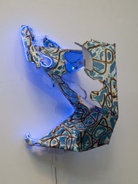 "James O. Clark, ""Yossarian"" (2006). Enamel paint, metal, 