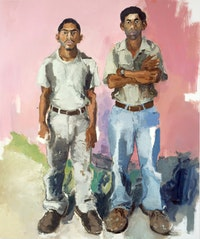 "John Sonsini, ""JOSE & ENRIQUE"" (2006). Oil on canvas, 72"