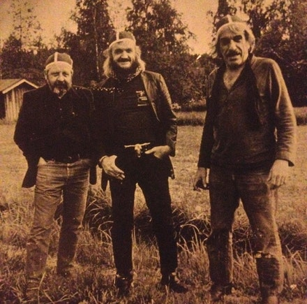 Rudy Autio, Jim Leedy, and Peter Voulkos in Montana. 1960s.