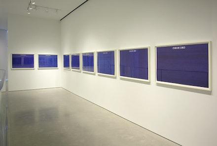 "Alighiero e Boetti, ""Ononimo,"" 1973. Ballpoint pen on card; eleven parts. 27 5/8 x 39 3/8"" each. Courtesy Sperone Westwater, New York."